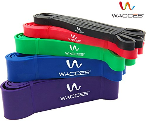 Wacces Assisted Pull Up Band for Heavy Power Weight Lifting (Set of 5) by Wacces