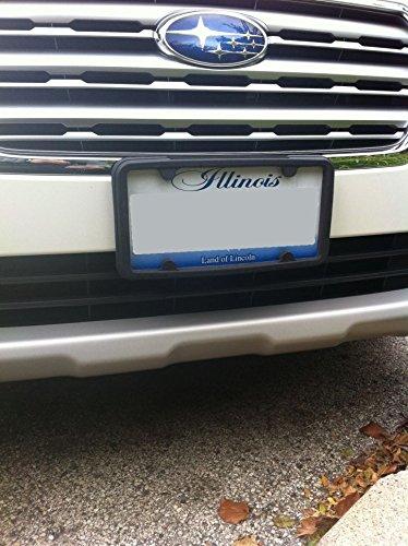 A NASA-like Rubber License Plate Bracket Frame Tag Holder Guard Bumper for BMW
