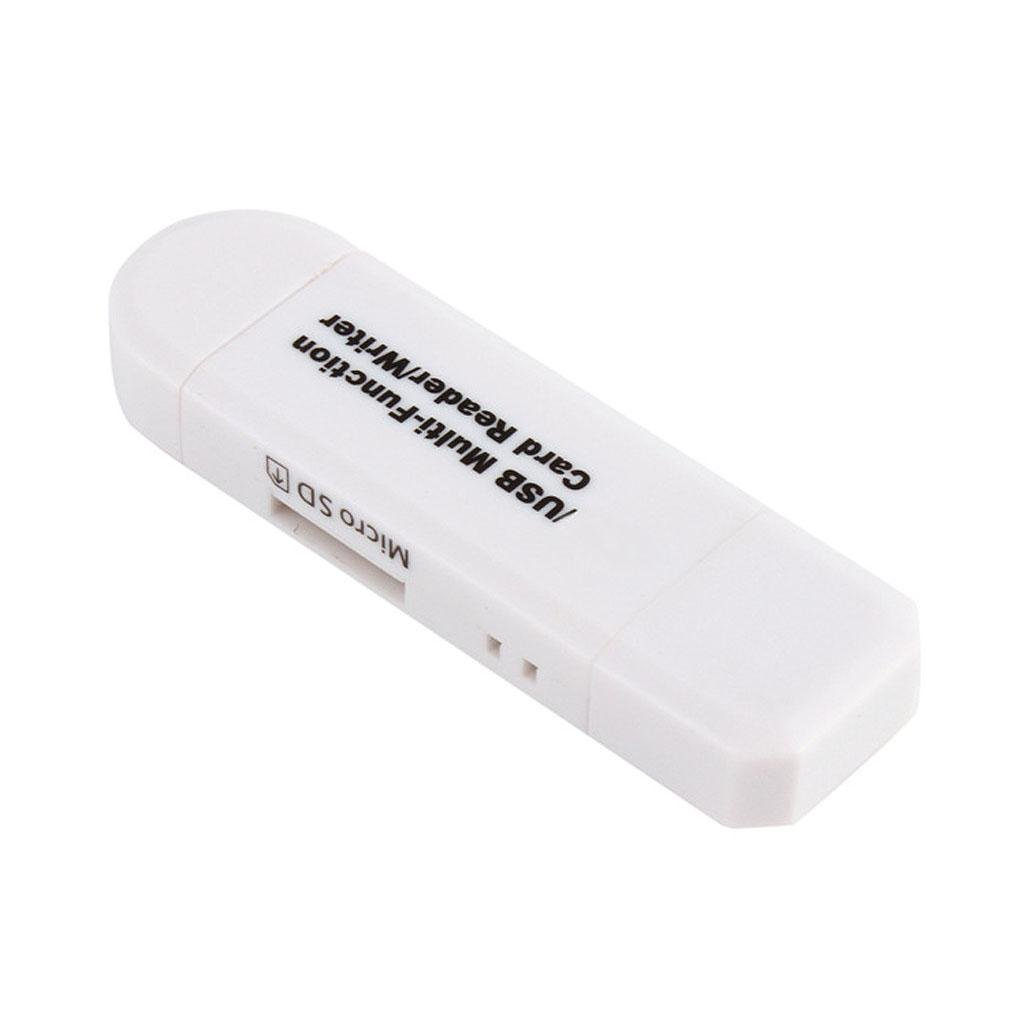 Mengonee Tarjeta SD TF Lector de Tarjetas de Memoria Multifunci/ón USB 2.0 DE Alta Velocidad para Android Tel/éfono Conexi/ón Cabeceras de Extensi/ón