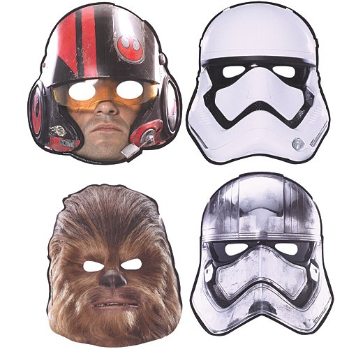 Amscan Star Wars Episode VII Masks, 8 Count, Party Supplies Novelty