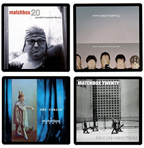 Matchbox 20 Twenty - Collectible Coaster Gift Set #1 ~ (4) Different Album Covers Reproduced on Soft Pliable Coasters