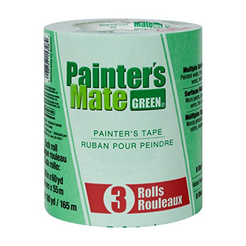 Painter's Mate Green Painter's Tape, 1.88 Inches x 60 Yards, 3 Pack (Painters Mate Green)