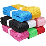 """HipGirl Polypropylene Polypro Webbing for DIY Key Chain Fob, Yoga Strap, Tote, Backpack, Chair, Purse, Pet Collar (40yd (8x5yd) 1.25"""" (30mm) Combo)"""