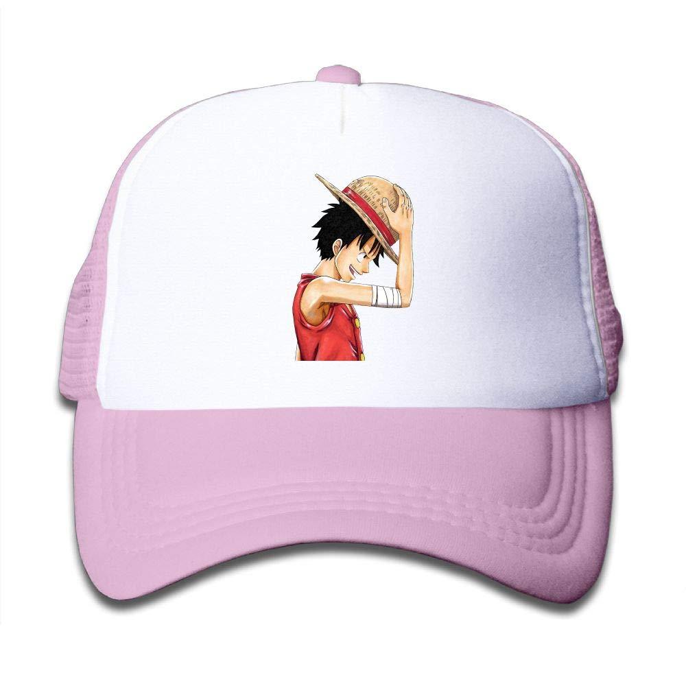 Aidear Monkey D. Luffy - Render Youth Girls Mesh Hat Fashion Child Cap One Size