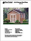 12' x 12'Gable Storage Shed Project Plans -Design #21212