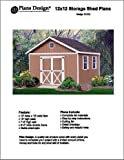 12' x 12' Gable Storage Shed Project Plans -Design #21212