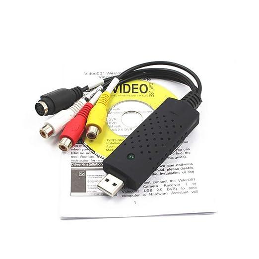 Ogquaton Nuevo USB 2.0 Easycap Dc60 TV DVD VHS Adaptador de ...