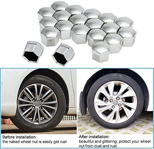 Push On Automotive Wheel Nut Bolt Chrome Covers 17mm Non Rust Finishing Touch