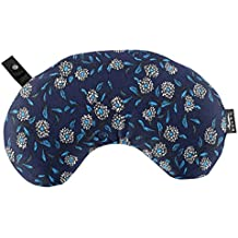 Bucky Minnie, Travel Neck Pillow, All Natural Millet Hull Filling, Removable Cover, Adjustable Filling - Woodcut Floral