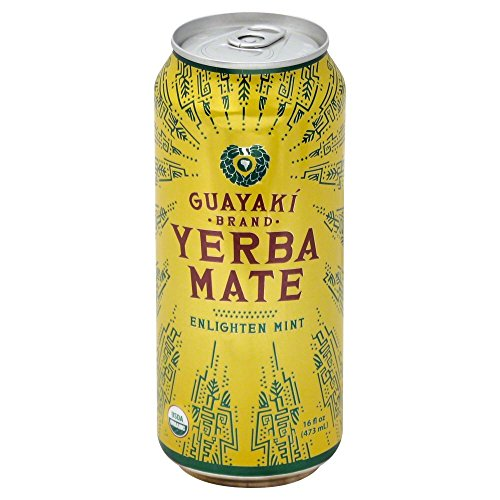 Yerba Mate Mint (Guayaki Organic Yerba Mate, Enlighten Mint, 16 Ounce (Pack of 12))