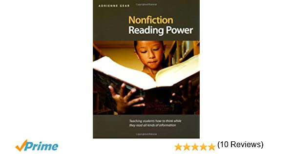 Amazon nonfiction reading power teaching students how to think amazon nonfiction reading power teaching students how to think while they read all kinds of information 9781551382296 adrienne gear books fandeluxe Image collections