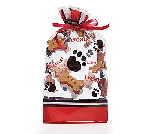 Paw Print Dog Treats Cello Bags