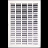 20'' X 36 Steel Return Air Filter Grille for 1'' Filter - Removable Face/Door - HVAC DUCT COVER - Flat Stamped Face - White [Outer Dimensions: 22.5''w X 38.5''h]