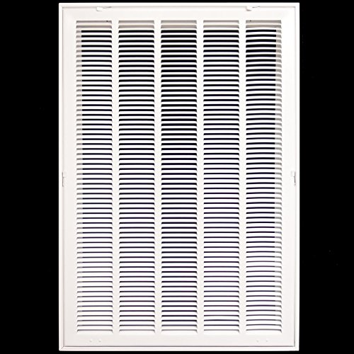 20'' X 36 Steel Return Air Filter Grille for 1'' Filter - Removable Face/Door - HVAC DUCT COVER - Flat Stamped Face - White [Outer Dimensions: 22.5''w X 38.5''h] by HVAC Premium