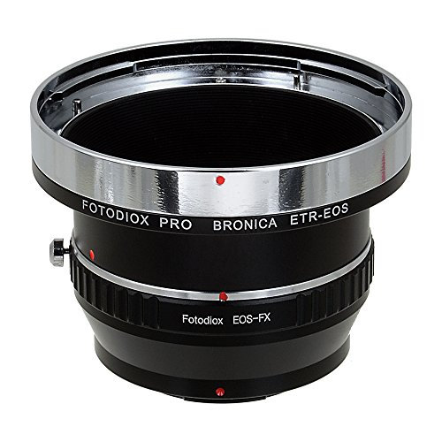 Fotodiox Pro Lens Mount Double Adapter Bronica ETR and Canon EF/EF-s Lenses to Fuji Film X-Series Mirrorless Cameras (X-Mount)