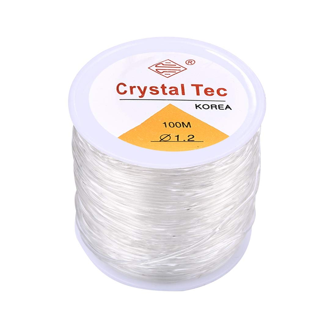 1 Roll 100M Elastic Bracelet String Cord Clear Stretch Bead Cord for Jewelry Making and Bracelet Making 0.6mm/×100m White B