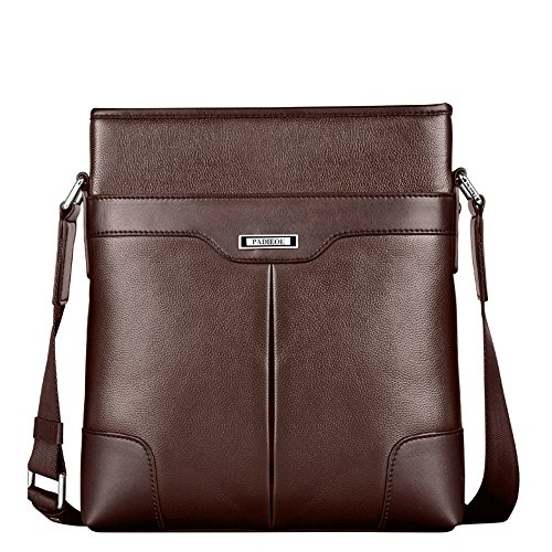 Padieoe Bolsos de moda bolsa de hombro bolsa de mensajero del bolso de cuero bolso(Marr¨®n) NB141225-4Z marr¨®n