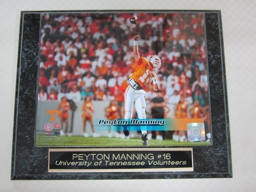Peyton geführt wird Manning University of Tennessee Collector Platte w 8 x 10 Foto By J & C Baseball Clubhaus