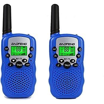 2X Walkie Talkies para ninos 22CH Radio UHF Transceptor Microfono Juguete jugar