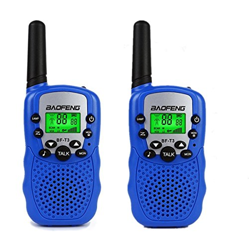 Kids Walkie Talkies Toys Mini Two Way Radio for 3-12 Year Old Boys Girls Children Toy Christmas Xmas Gift Birthday Present (2 Pack - Blue)
