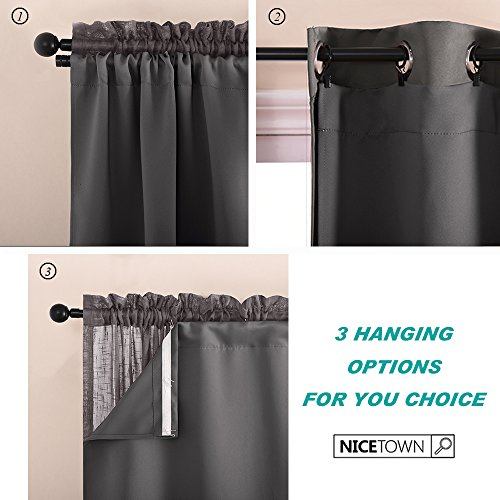 Blackout Curtain And Drape Liners Thermal Insulated Rod Pocket Blackout Curtain Panels For