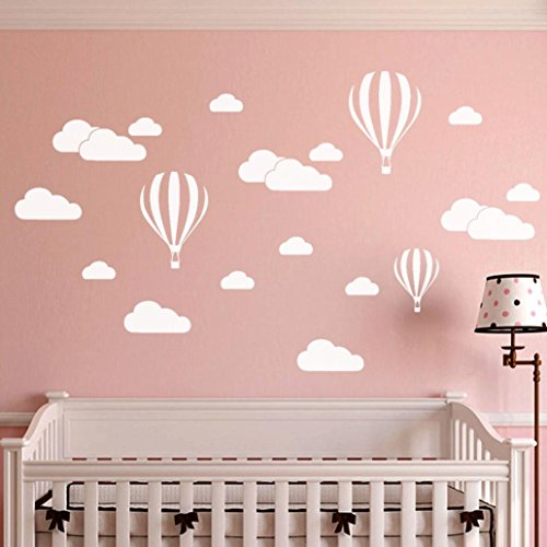 Chouron Cloud Balloon Wall Stickers, DIY Large Clouds Balloon Wall Decals Children's Room Home Decoration Art (White) ()