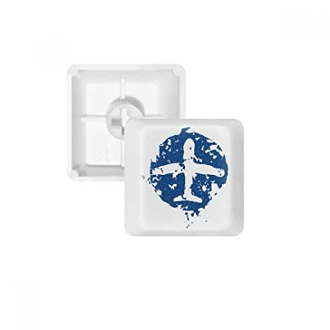 DIYthinker Azules De Diseño Plano Teclas Ilustración Modelo Pbt para Teclado Mecánico Blanco OEM No Marca