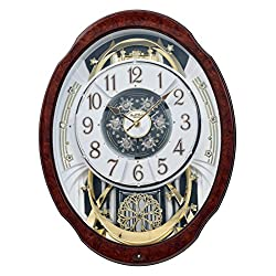 Rhythm Clocks Woodgrain Marvelous Magic Motion Clock