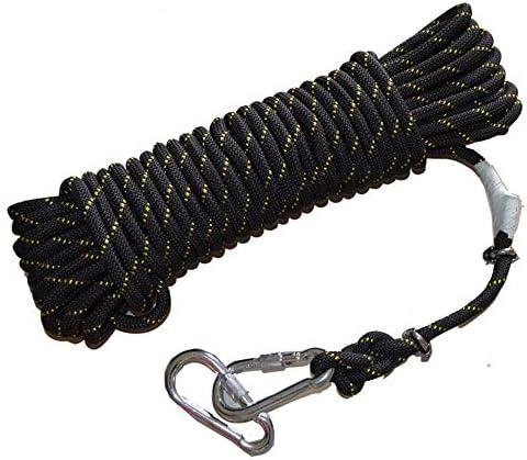 クライミングロープ、クライミングロープアウトドアレスキューエスケープロープワイヤーコア安全ロープ荷重600kg、直径10mm。