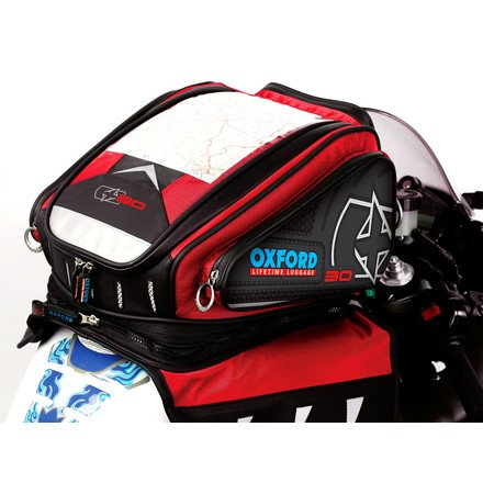 Oxford OL127 X30 Red Magnetic Motorcycle Tank Bag