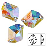 20mm SWAROVSKI 3265 Cosmic Sew On Rhinestone by 2 PCS, Crystal AB, SW-3265