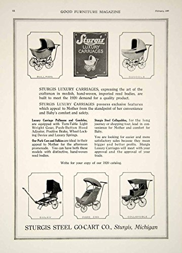 1920 Ad Vintage Sturgis Baby Carriage Wicker Buggy Pram Stroller Antique GF5 - Original Print Ad (Antique Wicker Baby Buggy)
