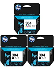 2x siyah & 1x üç renkli HP Mürekkep Kartuşları, HP DeskJet 3730baskı