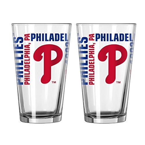MLB Philadelphia Phillies Spirit Pint, 16-ounce, 2-Pack