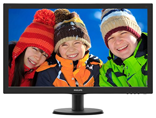 "Philips 273V5LHSB 27"" Monitor, Full HD 1920x1080, 1ms, VESA, 4Yr Advance Replacement Warranty"