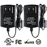 ANVISION 2-Pack AC to DC 12V 3A 36W Power Supply Adapter 5.5×2.1mm for Led Light Strips DVR CCTV Camera and more, Efficiency Level VI, UL Listed FCC RoHS For Sale