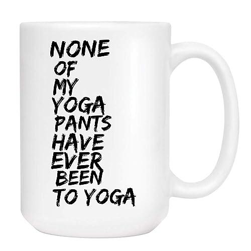 Amazon.com: Yoga Pants Coffee Mug - Cute Sarcastic Funny Cup ...