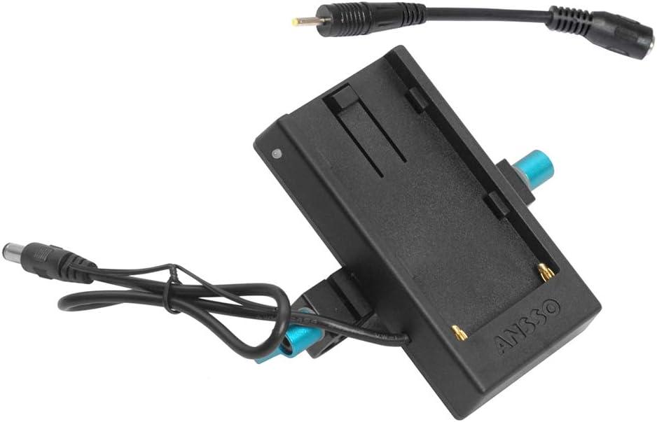 ANSSO U90 U65 U60 U35 Battery Plate Power Supply Adapter with 1//4 Screw Mount for BMD BMPCC BMCC 2.5K BMPC 4K Camera