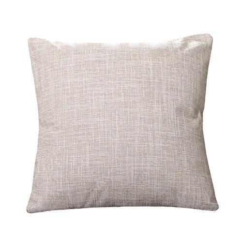 Pillowcase Covers, U'artlines Pillow Case Decorative Cushion Cover Pillowcase for Sofa Cotton Linen Pillow Cover,Cream,22
