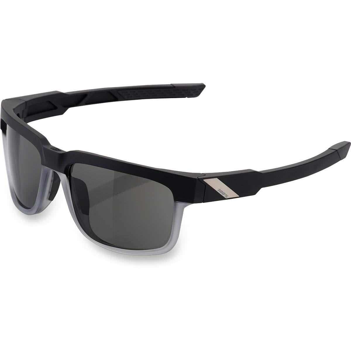 Inconnu 100% Met – 018 – 47 Sonnenbrille Unisex Erwachsene, Schwarz Transparent