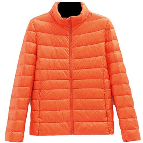 Down Short Women's 4 amp;S Jacket amp;W Collar M Stand Puffer Packable Coats Ultralight Warm Aq4BUwf