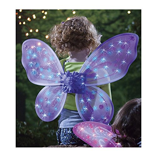 [Purple LED Twinkling Fairy Wings] (Firefly Kids Costumes)