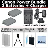 2 LP-E8 Batteries for Canon EOS Rebel T2i T3i T4i T5i 550D 600D 650D 700D KISS X4 X 5 X6i DSLR Camera + AC/DC Turbo Charger + an eCostConnection Starter Kit