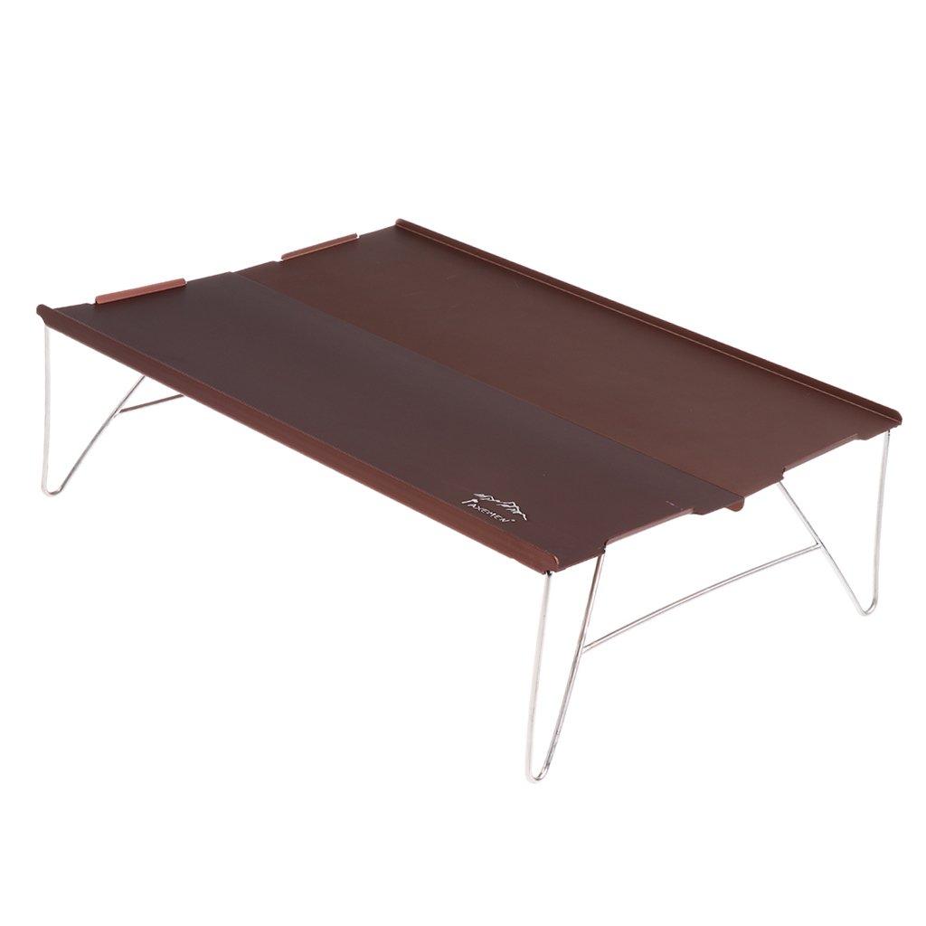 baosity Miniキャンプテーブルwithアルミニウムテーブルボード+ Carry Bag forピクニックキャンプ、ビーチ、ボート、 B07CT8SJPN シャンパン シャンパン