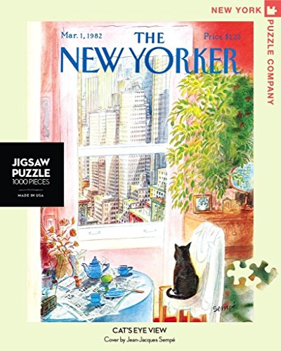 New York Puzzle Company - New Yorker Cat's Eye View - 1000 Piece Jigsaw - Eye View Cats