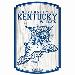 NCAA College Vault Kentucky Wildcats 11-By-17 Wood Sign Established