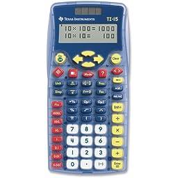Texas Instruments TI-15 Explorer Elementary Calculator - 2 Line(s) - 11 Character(s) - Battery/Solar Powered - 6.9quot; x 3.5quot; x 0.7quot; - Blue