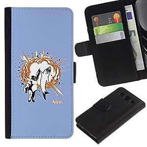 YiPhone /// Tirón de la caja Cartera de cuero con ranuras para tarjetas - Gorila & Shark Explosión - Samsung Galaxy S3 III I9300