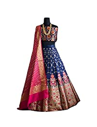 pure banarasi brocade lehenga choli dream exporter 1121