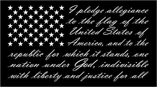 Firehouse Graphics Buy 2 get 3rd Free American Flag Pledge of Allegiance Vinyl Truck Window Sticker Decal (7
